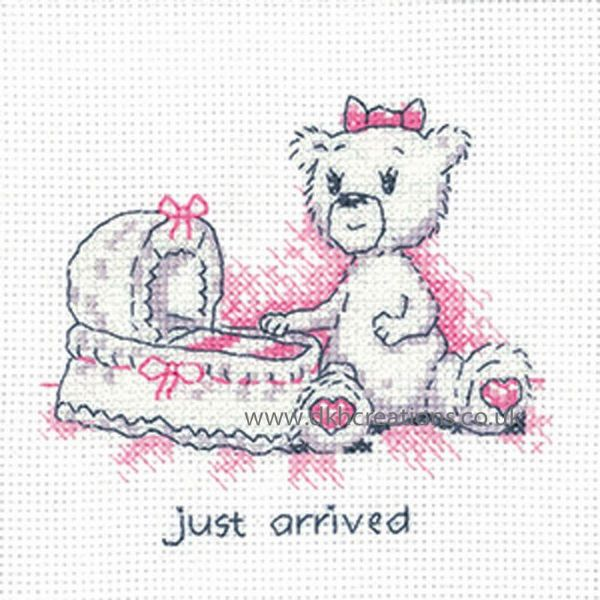 Peter Underhill Justine Just Arrived Greeting Card Cross Stitch Kit